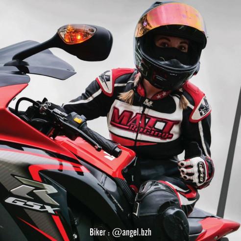 Combinaison Cuir moto - Femme - Modèle RACING