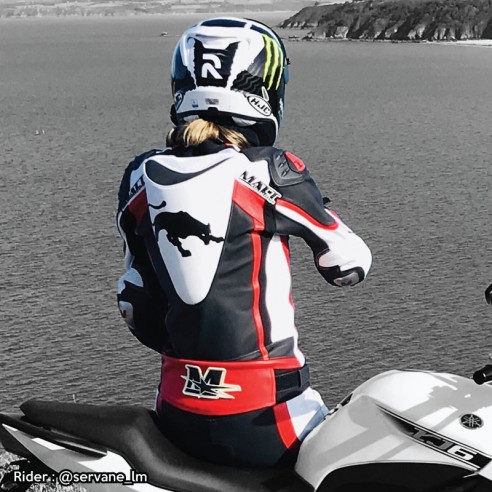 Motorcycle leather suit - Woman - Model ALL ROAD RACING